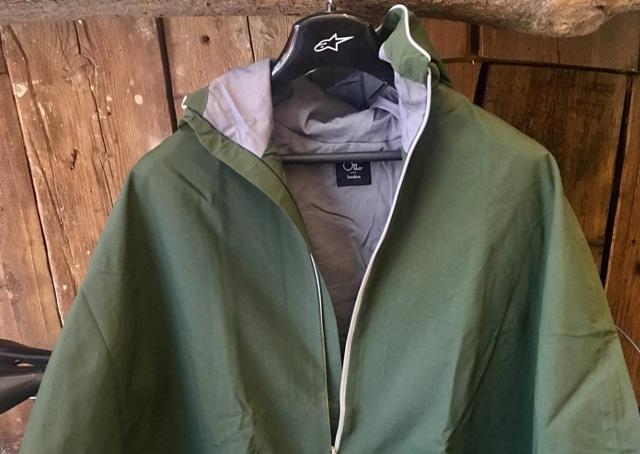 green cycling jacket